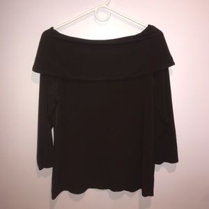 Brown Off the Shoulder Chico's Top